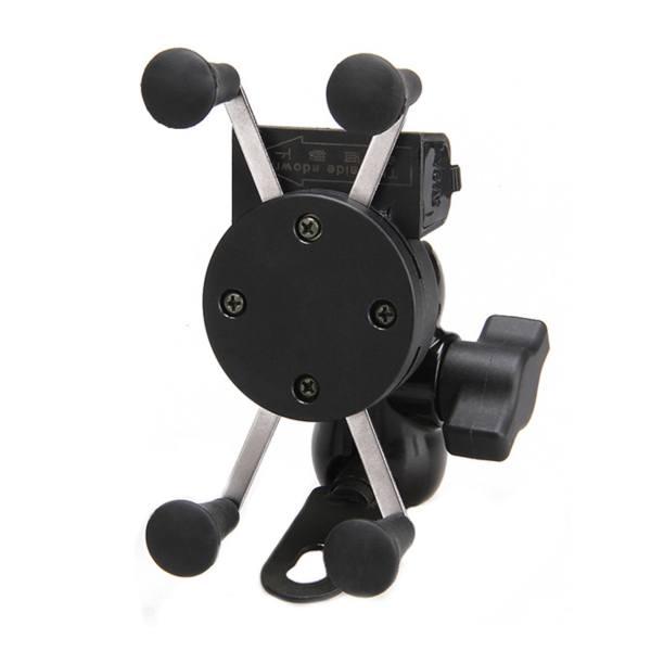 پایه نگهدارنده موبایل شارژر دار مناسب برای موتورسیکلت مدل Phone charging bracke