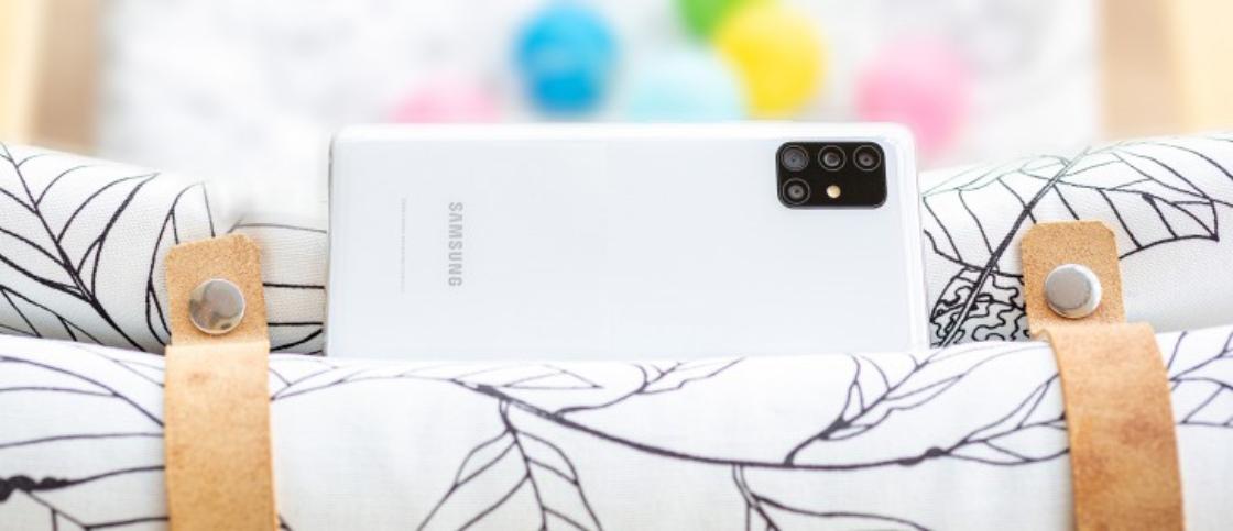 طراحی زیبا در گوشی A51