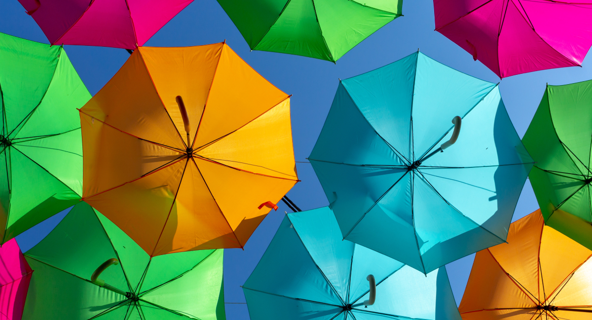 خرید چتر رنگارنگ
