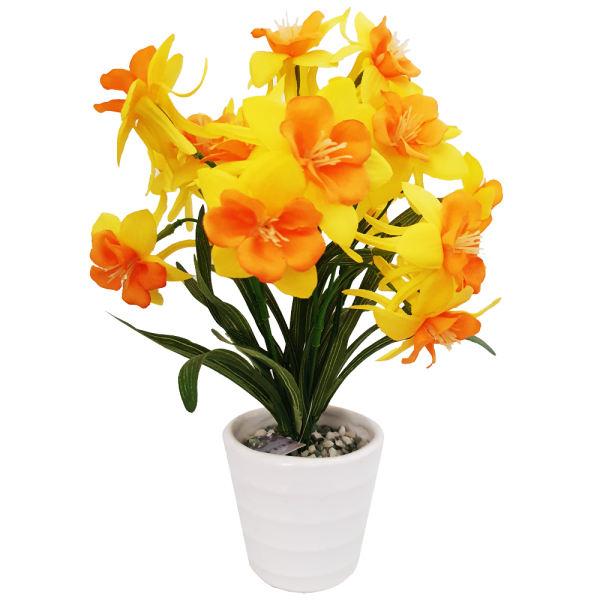گلدان به همراه گل مصنوعی مدل نرگس n966