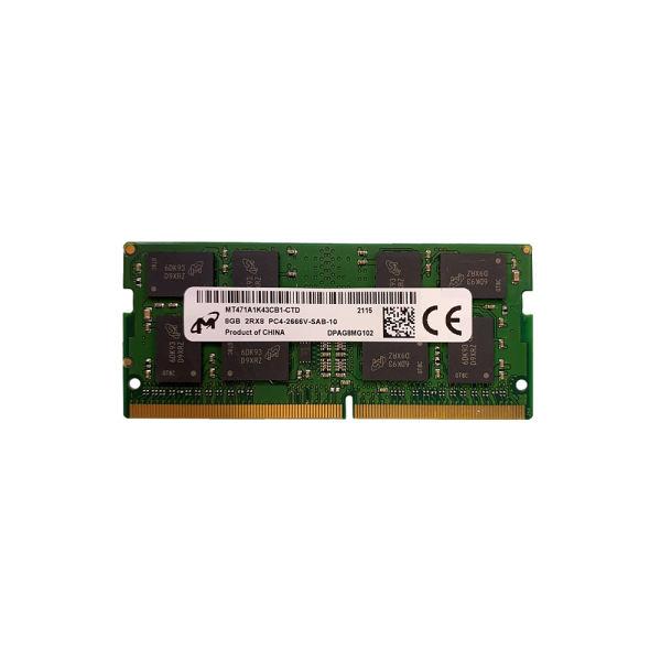 رم لپ تاپ DDR4 تک کاناله 2666 مگاهرتز CL10 میکرون مدل MTA8ATF1G64HZ ظرفیت 8 گیگابایت