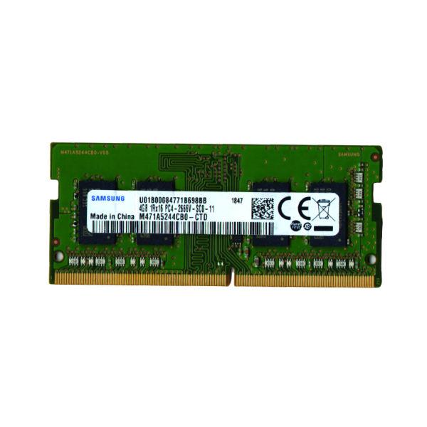 رم لپ تاپ DDR4 تک کاناله 2666 مگاهرتز CL11 سامسونگ مدل PC4 ظرفیت 4 گیگابایت