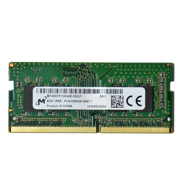 رم لپ تاپ DDR4 تک کاناله 3200 مگاهرتز CL11 میکرون مدل PC4 ظرفیت 8 گیگابایت